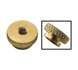 Model T Spark Plug Nut, Brass, Authentic Style With 8/32 Thread, 1909-1927