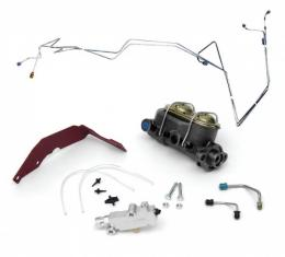 Chevy Non-Power Dual Master Cylinder Conversion Kit, With Disc Brakes, 1955-1957