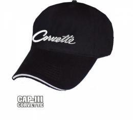 Corvette Script Liquid Metal Cap
