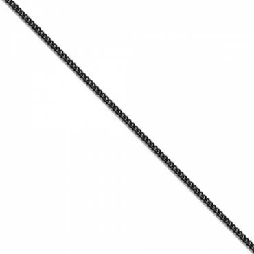 """Corvette Round Curb Chain, !8"""" or 22"""" Long, Black Stainless"""