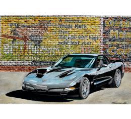 Corvette The Black Bull, Fine Art Print By Dana Forrester, 11x17