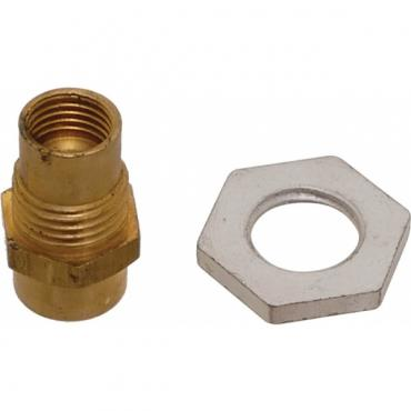 Model A Ford Vacuum Windshield Wiper Line Connector & Nut -Brass - 1/8-24 Pipe Thread