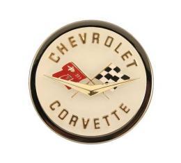 """Corvette C1 Emblem Metal Sign, 12"""" X 12"""""""