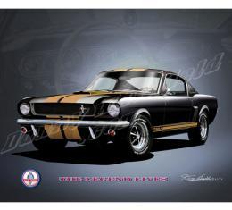 Mustang Shelby GT350  ''HERTZ'' Carol Shelby Tribute Fine Art Print By Danny Whitfield, 1966