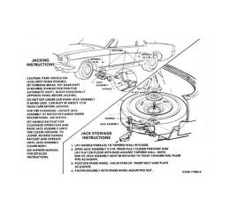 Ford Mustang Decal - Jack Instruction