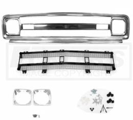 Chevy Truck Front Grille Kit, With Black Insert, Good Quality, 1969-1970