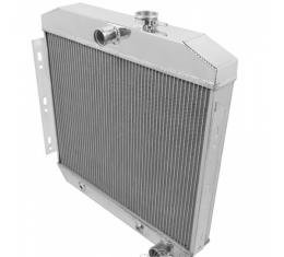 Chevy Champion Aluminum Radiator, Three Row, 6 Cylinder, 1955-1956