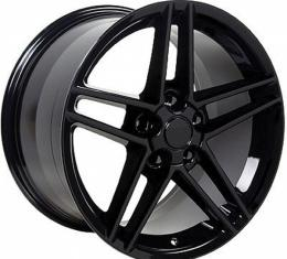 Corvette 18 X 9.5 C6 Z06 Reproduction Wheel, Black, 1988-2004