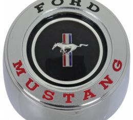 Ford Mustang Horn Button - Metal - For Wood Grain Steering Wheel - Center Cap With Emblem