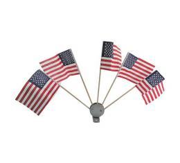 Flag Set - Five (5) Flag Set With Brackets - Mounts To Moto-Meter