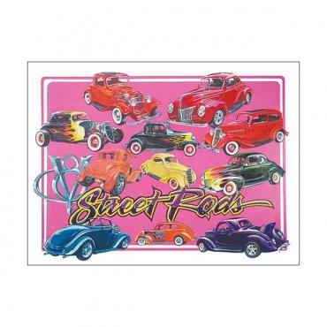 Poster - Depicts Classic Street Rods - 27 X 36
