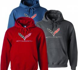 Corvette Stingray Red Hooded Sweatshirt