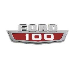 Ford Pickup Truck Hood Side Nameplate - F100 - Fits Right Or Left Hood Side