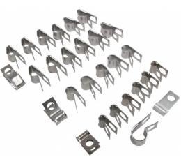 Corvette Brake & Fuel Line Clip Kit, 1970-1973