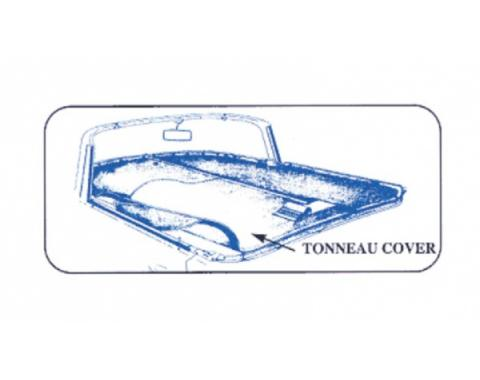 Ford Thunderbird Tonneau Cover, Black, 1955