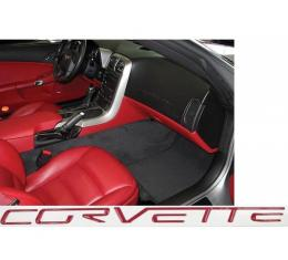 Corvette C6 Dash Lettering Kit, 2005-2013 | Monterey/Magentic Red