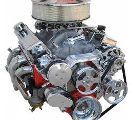 Early Chevy Vintage Air Front Runner Serpentine System, Small Block, With Power Steering Pump, Chrome Pulleys And Machine Finished Brackets, 1949-1954