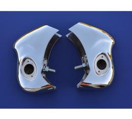 Chevy Rear Bumper Guards, Chrome,  Nomad & Wagon, 1956