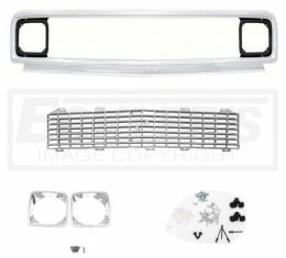 Chevy Truck Front Grille Kit, With Gray Insert, Show Quality, 1971-1972