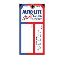 Autolite Sta-Ful Battery Tag - Edsel