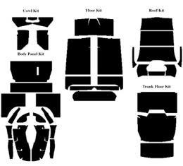 Acoustishield Insulation Kit - Ford Trunk Back Tudor Sedan