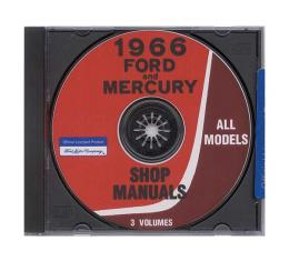 Ford and Mercury Car Shop Manual CD - For Windows OperatingSystems Only