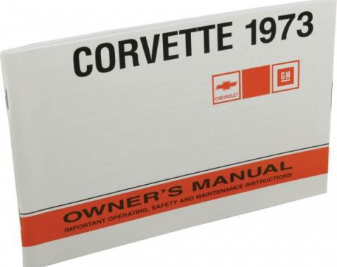 Corvette Owners Manual, 1973
