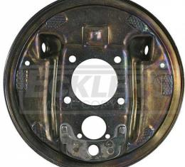El Camino Rear Drum Backing Plate, Without Splash Shield, Left, 1964-1972