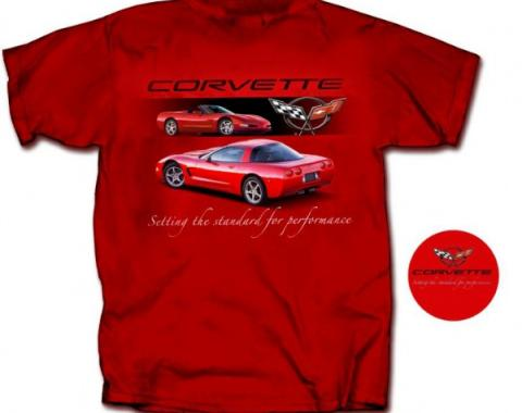 Corvette T-Shirt, C5 Setting The Standard For Performance, Red