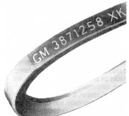 Nova & Chevy II Power Steering Belt With 396, 1968