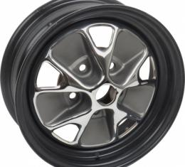 Ford Mustang Wheel - Styled Steel - Black Powder Coated RimWith Chrome Center - 14 X 5