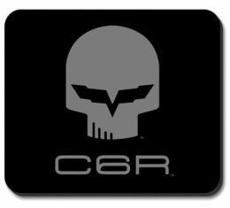 """Corvette Mouse Pad, Corvette C6R """"Jake"""" Black & Gray Image"""
