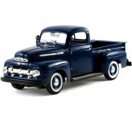 Ford Pickup Truck Die-Cast Model, F1, 1:32 Scale, Blue, 1951