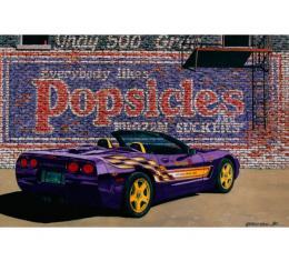 Corvette The Popsicle, Fine Art Print By Dana Forrester, 11x17