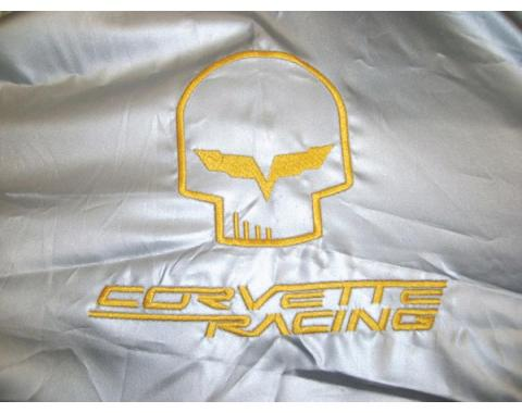 """Corvette Intro-Guard Car Cover, Silver, With """"Jake/Corvette Racing"""" Logo, 2005-2013"""