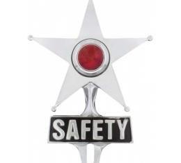 Early Chevy Safety Star License Frame Ornament With Light