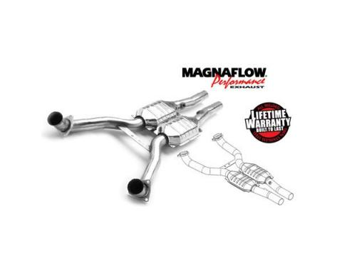 Corvette Y Pipe, Front, Magnaflow, With Catalytic Converters, 1997-2003
