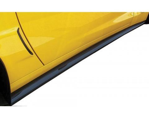 Corvette Side Skirts, ZR1/Z06 & Grand Sport, Carbon Fiber Look, 2006-2013