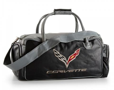 Corvette C7 Duffle Bag - Black/Gray