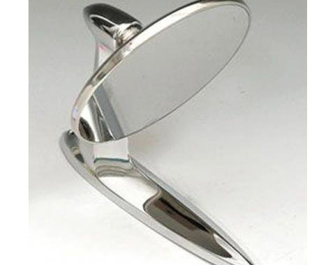 Chevy Wide Angle Outside Rear View Mirror, Left Or Right, 1955-1957