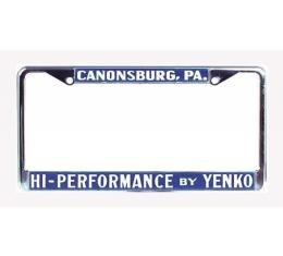 Chevelle Yenko License Frame, High Performace By Yenko