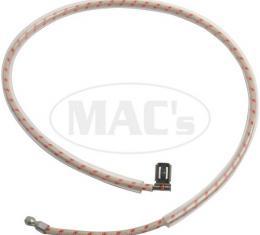 Oil Sender To Cowl Wire - 15 - Braided Wire - Mercury
