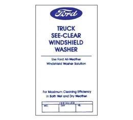 Ford Truck Windshield Washer Bottle Bracket Decal