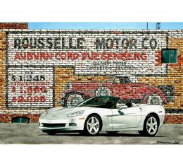 Corvette Duel Duesies, Fine Art Print By Dana Forrester, 11x17