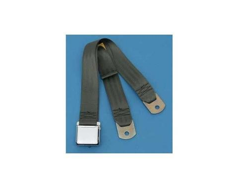 """Seatbelt Solutions Chevrolet 1955-1957, Rear Universal Lap Belt, 60"""" with Chrome Lift Latch 1800605002 