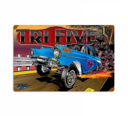 Chevy Metal Sign, 57 Gasser