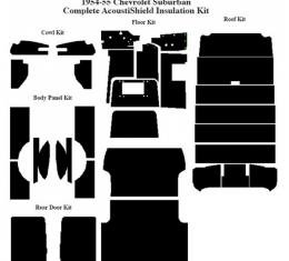 Chevy Insulation, QuietRide, AcoustiShield, Complete Kit, Suburban, 1954-1955