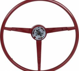 Ford Mustang Steering Wheel - Red - For 1964-1/2 Model WithGenerator