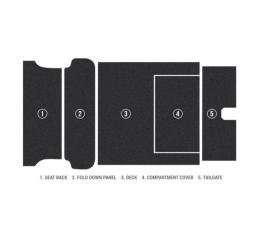 Chevy Carpet Kit, Loop Weave, Nomad & Station Wagon, Cargo Area Only, 1955-1957