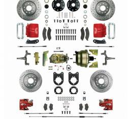 Big Brake 4 Whl Disc Conv, Drop Spindles, Staggered,  Power